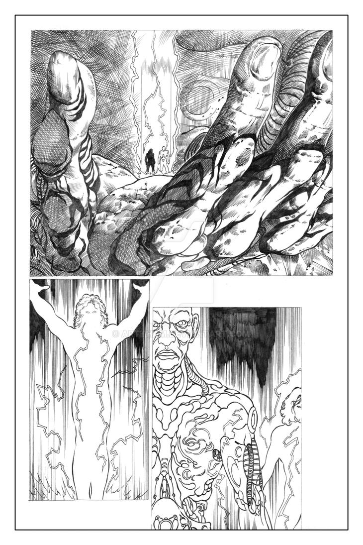 The Unforgivable #02 Soul Geist Page 12 Pencils by ARTTHAM