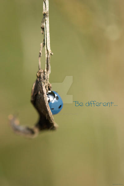 Be different...
