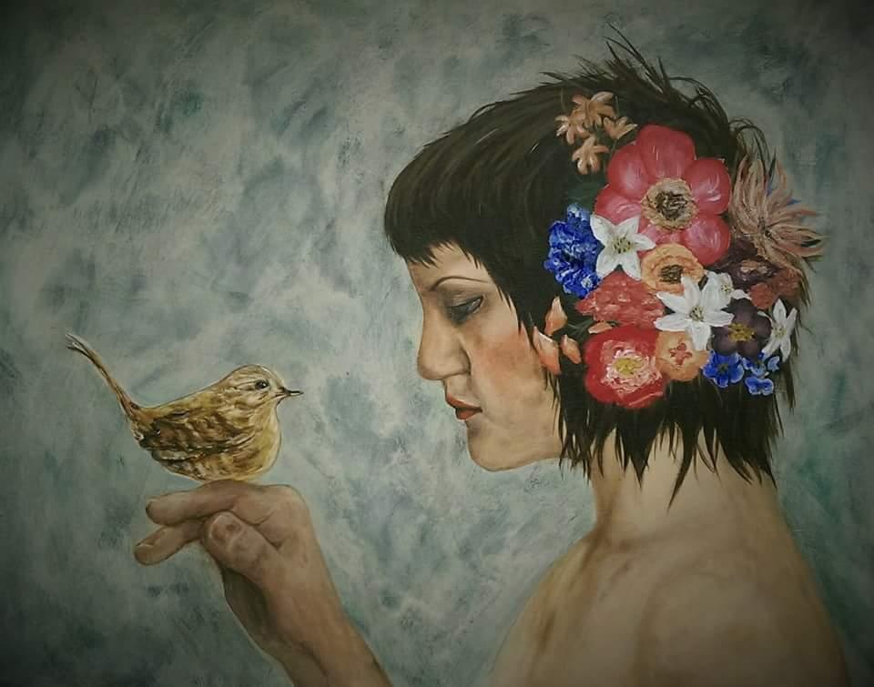 Flowers in her Hair by JennyDigital