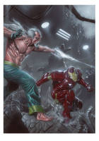 The Mandarin vs Iron Man by andrema