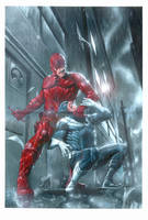 Daredevil vs Bullseye by andrema