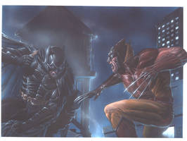 Dark Knight vs Wolverine by andrema
