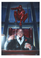 Daredevil vs Kingpin by andrema