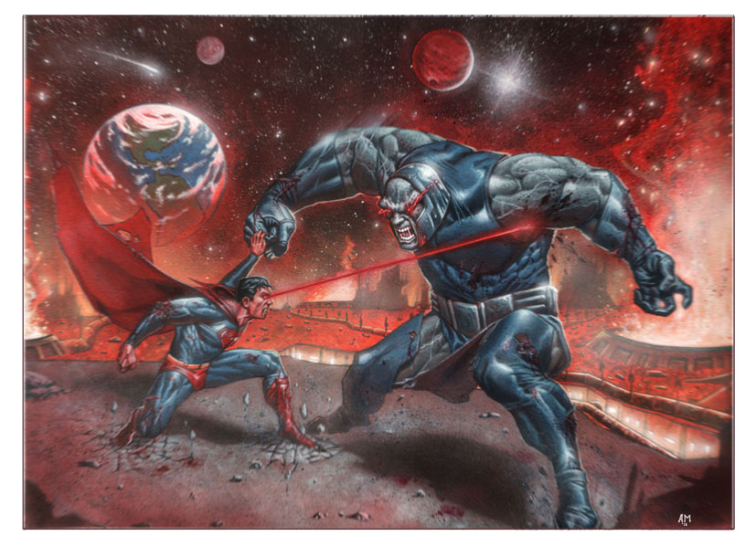 Superman vs Darkseid by andrema on DeviantArt