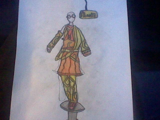 Shaoki's Sacred Aura Costume-Windoua by RubyUmbreon
