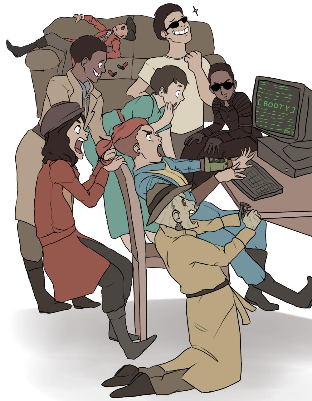 (Draw The Squad) Da Fallout 4 Crew by DoveTalon