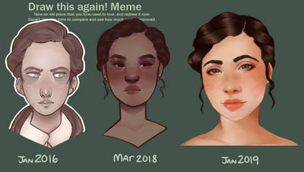 Draw this again 2016 - 2019 Miss Frye by dasagoo