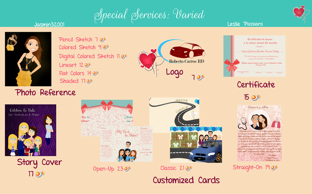 Official Commissions-special Services.varied by Jasmin32001
