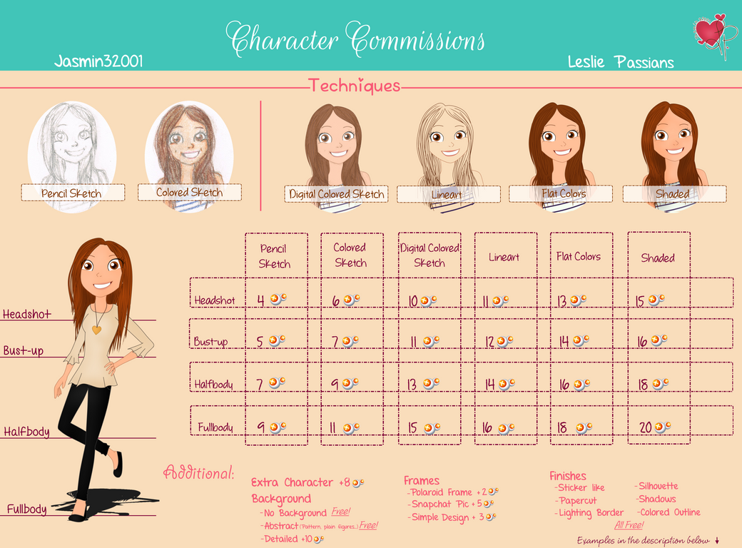 Commission Info: Character Commissions - OPEN by Jasmin32001
