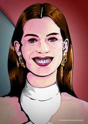 Vector Art Practice: Anne Hathaway by 111Keiser
