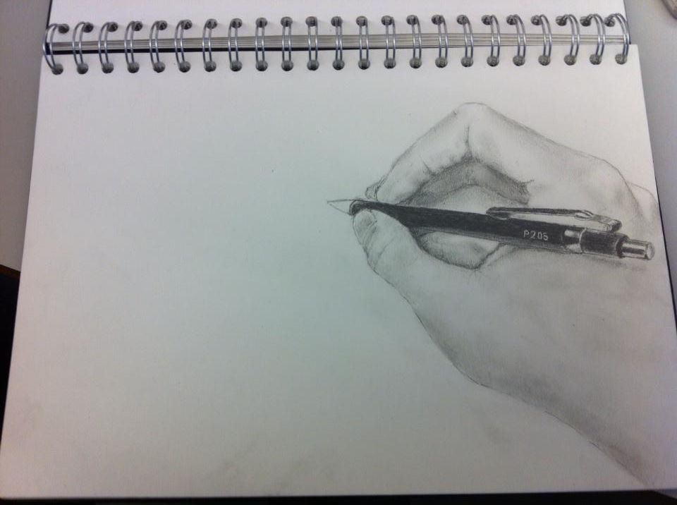 Drawing Of A Hand Drawing
