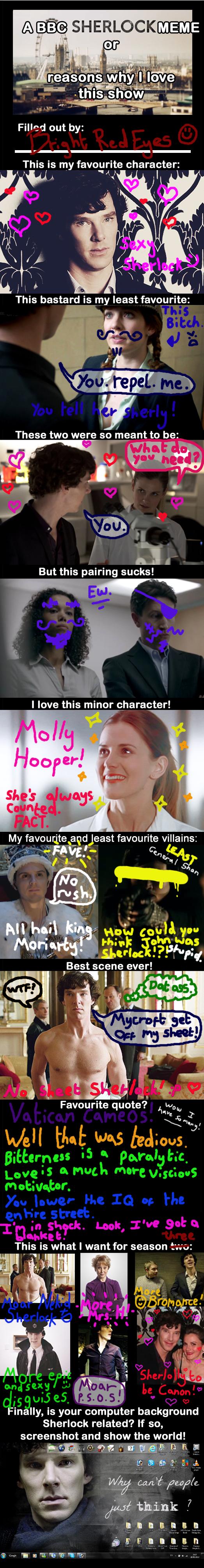 BBC Sherlock Meme by BrightRedEyes