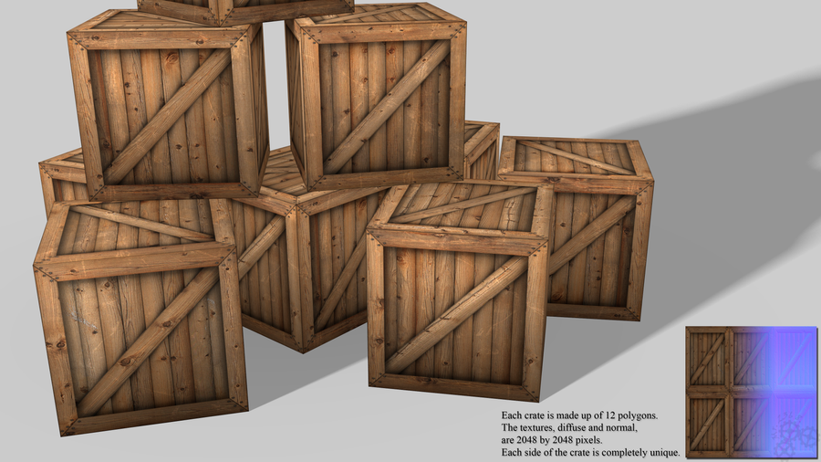 Real Time Wooden Crates By 2368