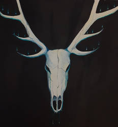 Deer skull painting