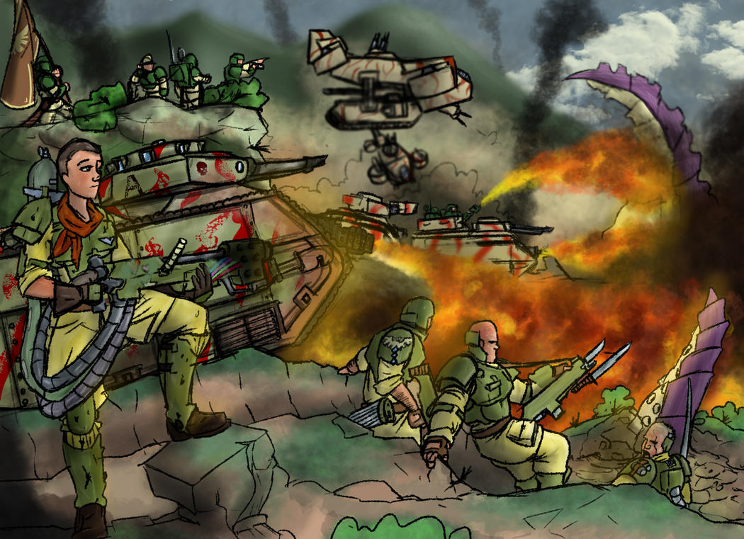 Warhammer 40K Imperial Guard:Burning Assault by LordCarmi ...