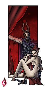 Dark Eldar Lady archon with bodyguard