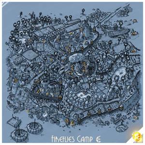 Fireflies Camp by night