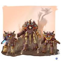 Warhammer 40000 Titans by LordCarmi