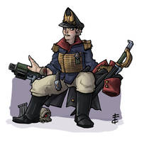 Imperial Guard Commissar by LordCarmi