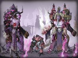 Slaanesh   Traitor Titans by LordCarmi