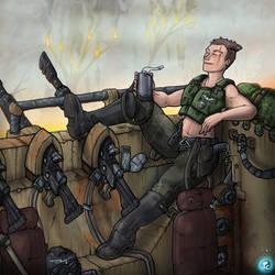 Off Duty Guard by LordCarmi