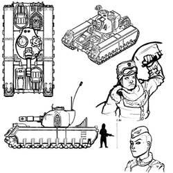 Ursarkar  Creed Mk I  Heavy Tank by LordCarmi