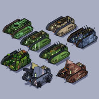 chimera variants by LordCarmi