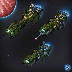 Escort Space Marine Cruisers by LordCarmi
