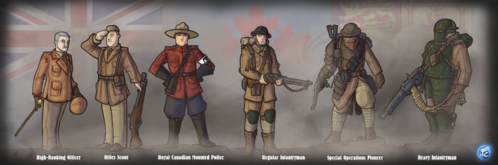 Loyalist Canadian Soldiers