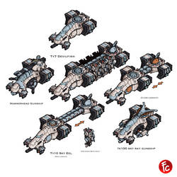 Tau vehicles by LordCarmi