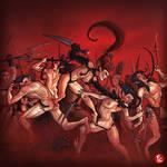Dark Eldar Wyches by LordCarmi