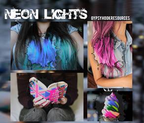 Neon Lights Psd by kiiroku