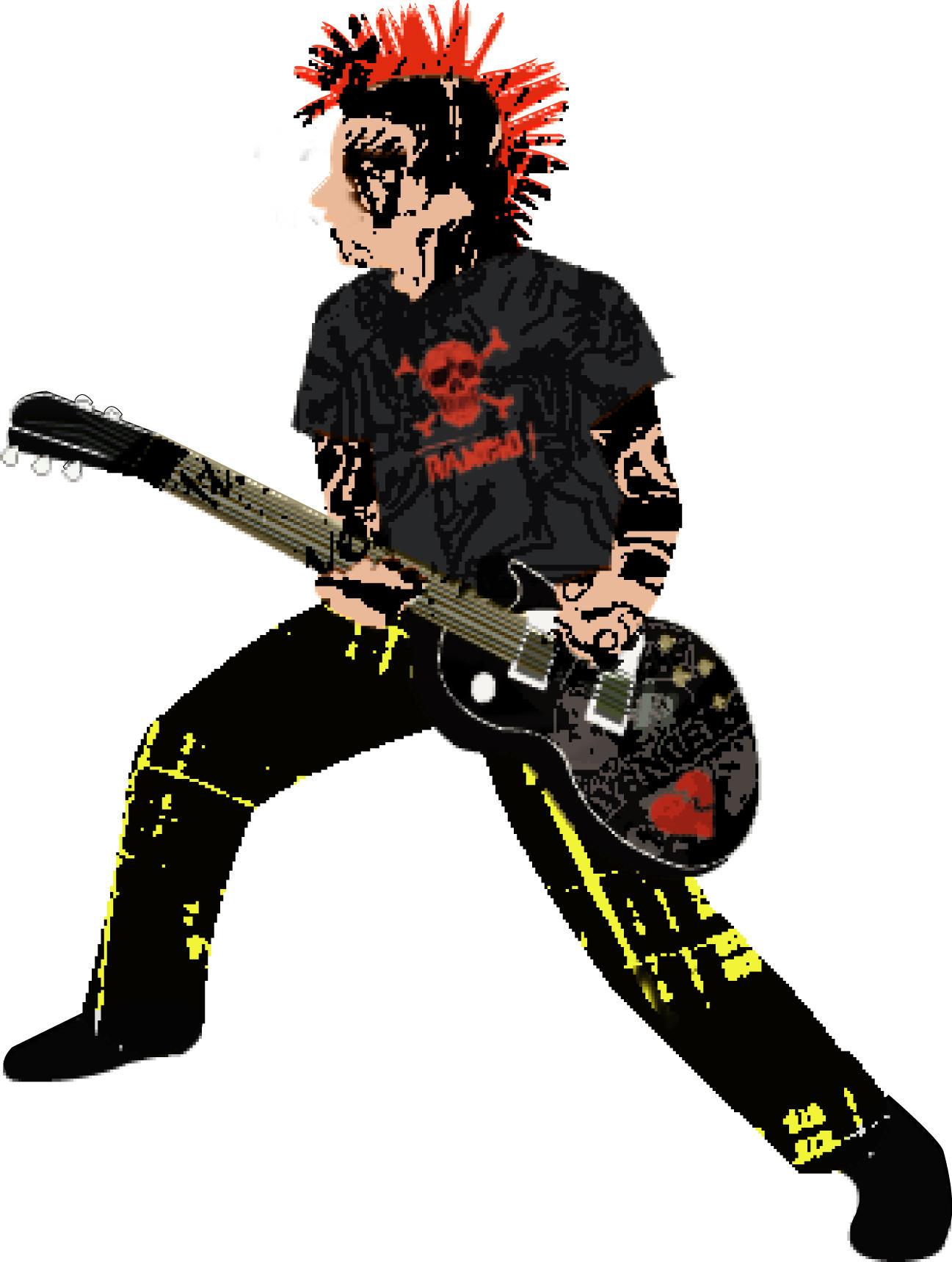 punk rock guitar college by bionikdesign on deviantart. Black Bedroom Furniture Sets. Home Design Ideas