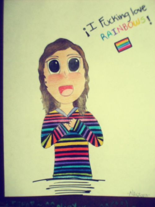 I fucking LOVE rainbows *-* by Niayara