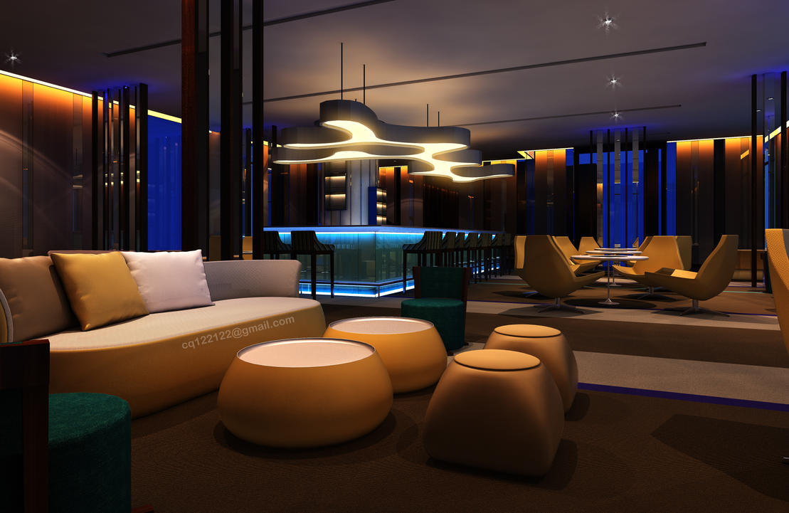 Hotel Lounge Bar Design (Night) By DouglasDao ...