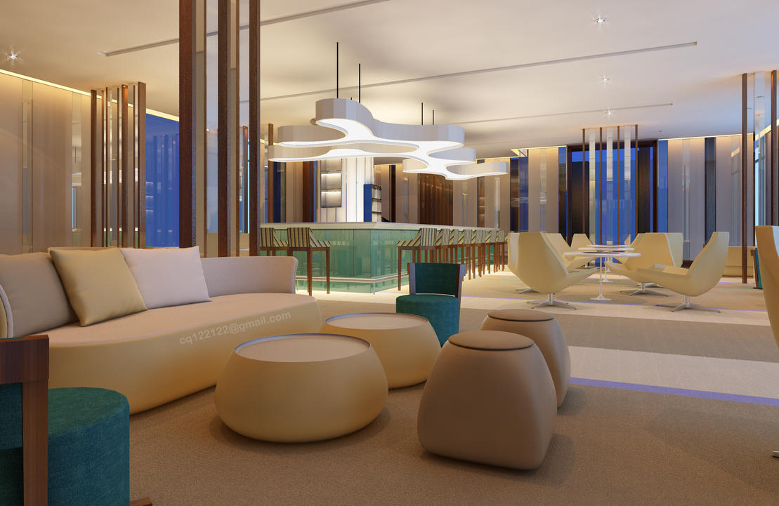 Hotel lounge bar design by douglasdao on deviantart for A for art design hotel