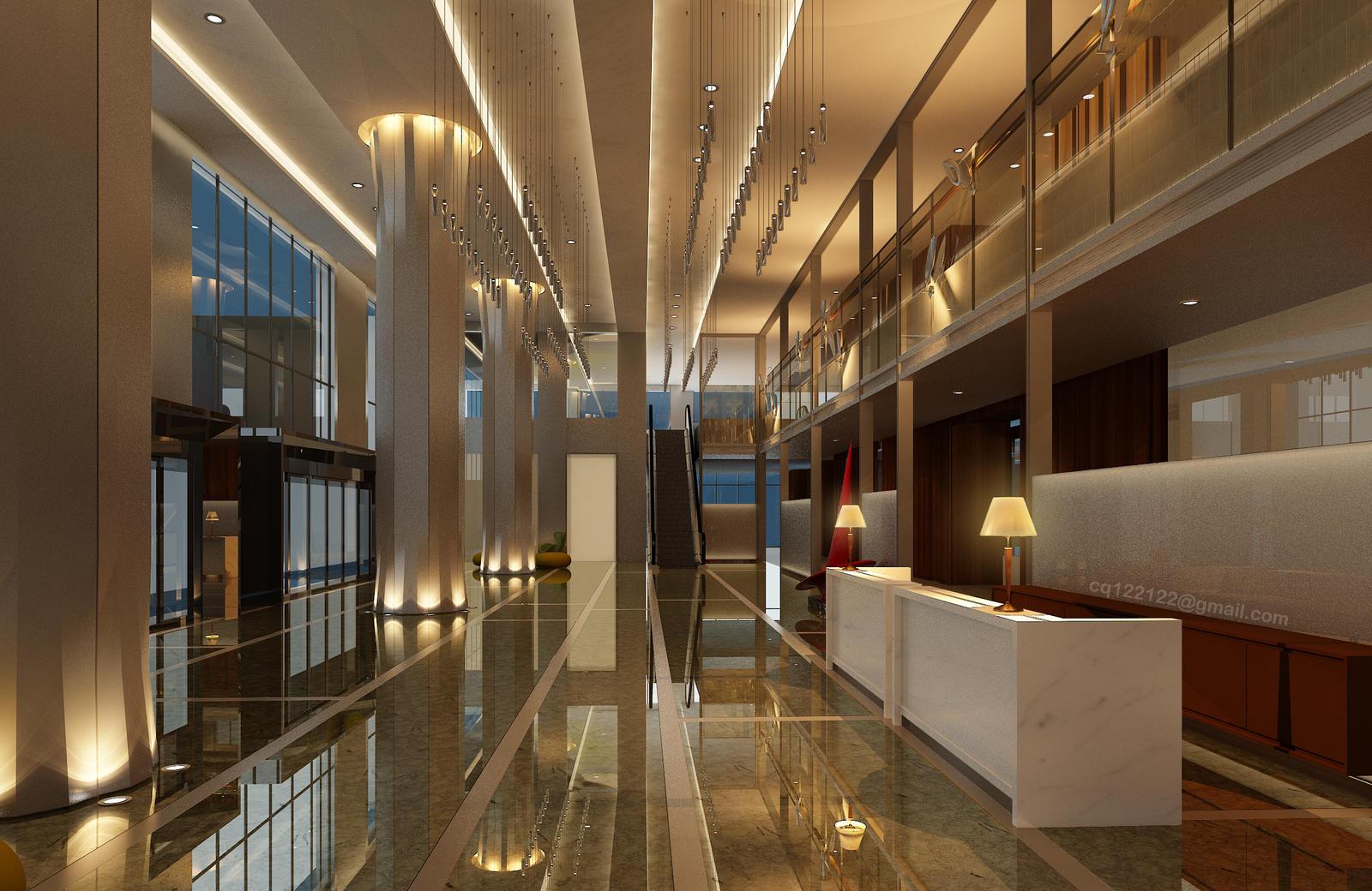 Hotel Lobby Design Night by DouglasDao on DeviantArt
