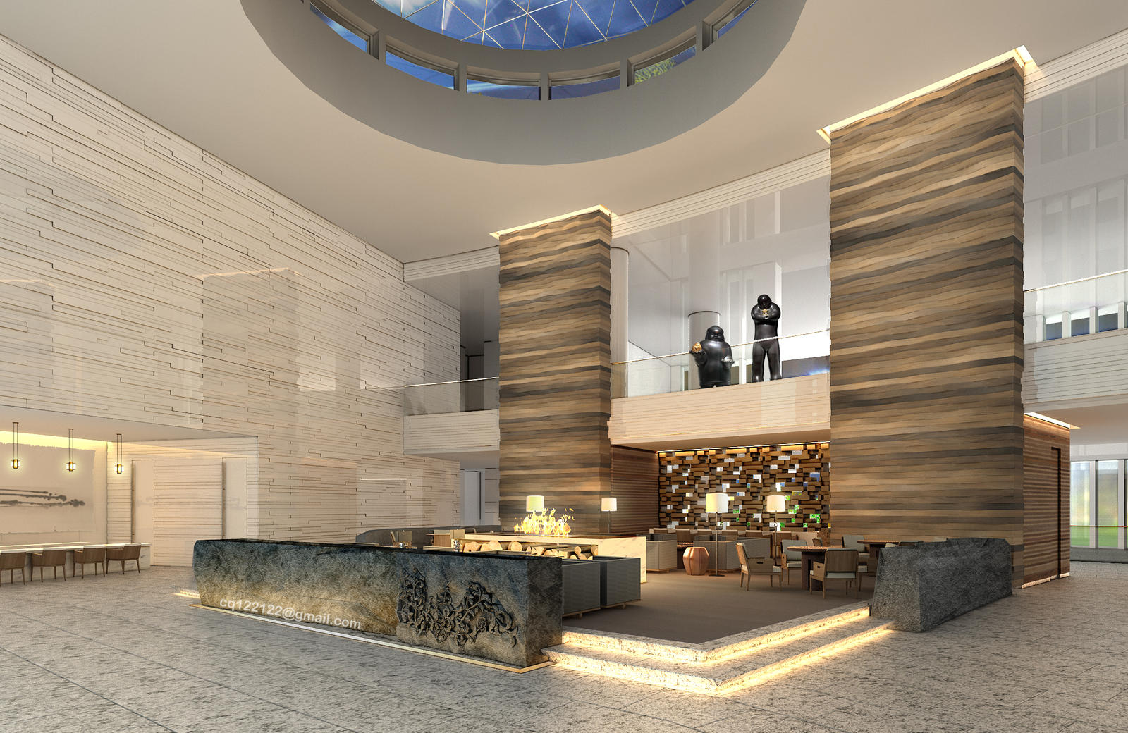 Hotel lobby design by douglasdao on deviantart for A for art design hotel