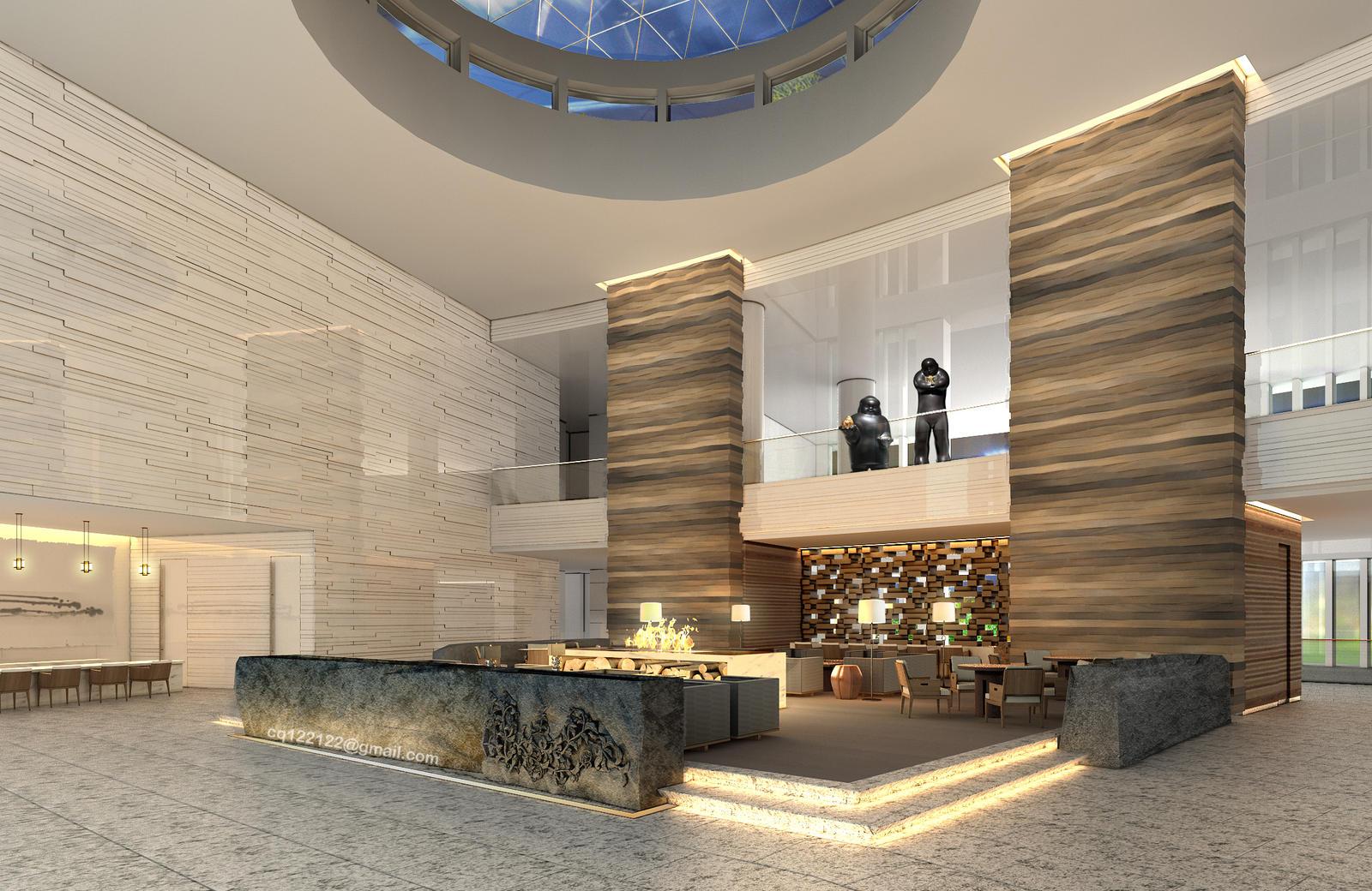 Hotel Lobby Design by DouglasDao on DeviantArt