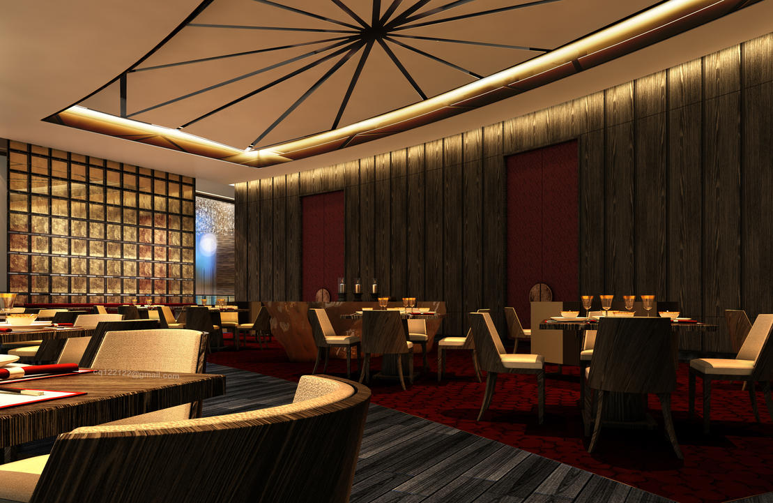 Hotel chinese restaurant design by douglasdao on deviantart for Art hotel design