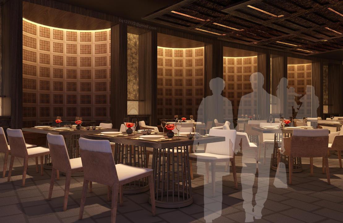 Hotel chinese restaurant design by douglasdao on deviantart