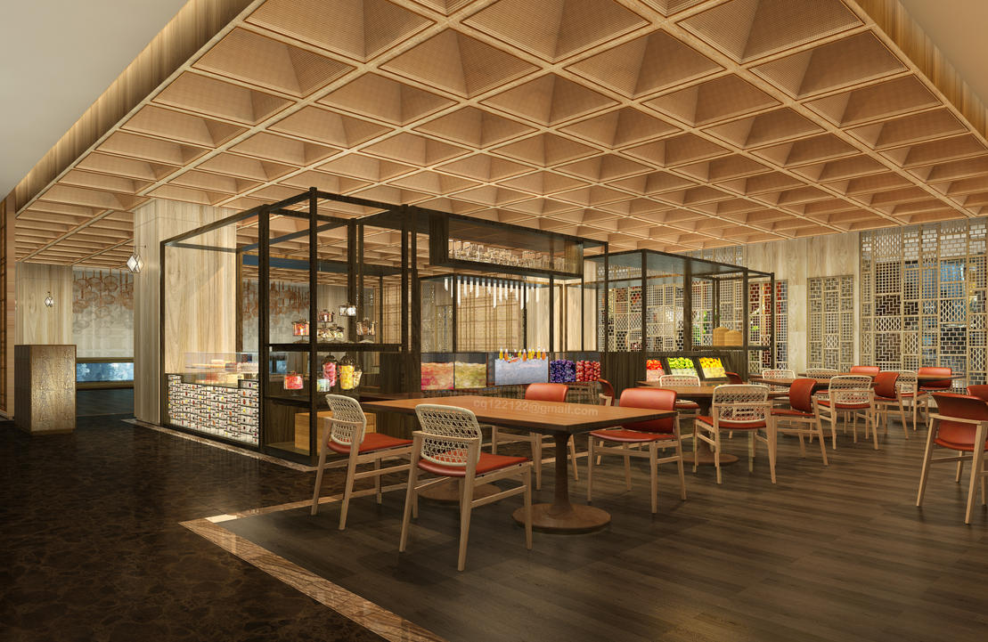 Restaurant Hotel Design : Hotel public area restaurant design by douglasdao on