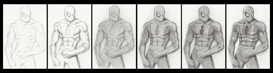 Spiderman Drawing By Pencil By S Oh Yah On Deviantart