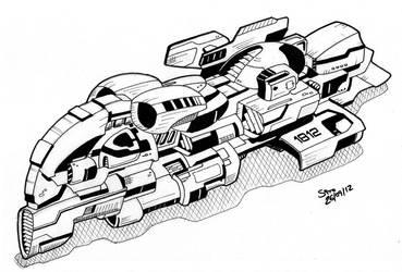 X18 ION spaceship by ephebox
