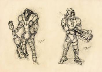 Mech grenadiers by ephebox