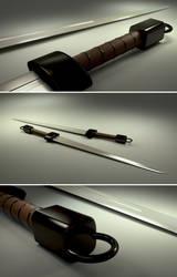 One hand sword Blender 3D by ephebox