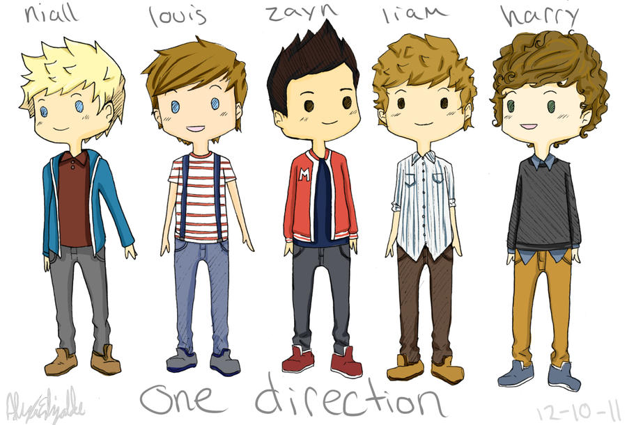 Cartoon Drawings Of One Direction Girl