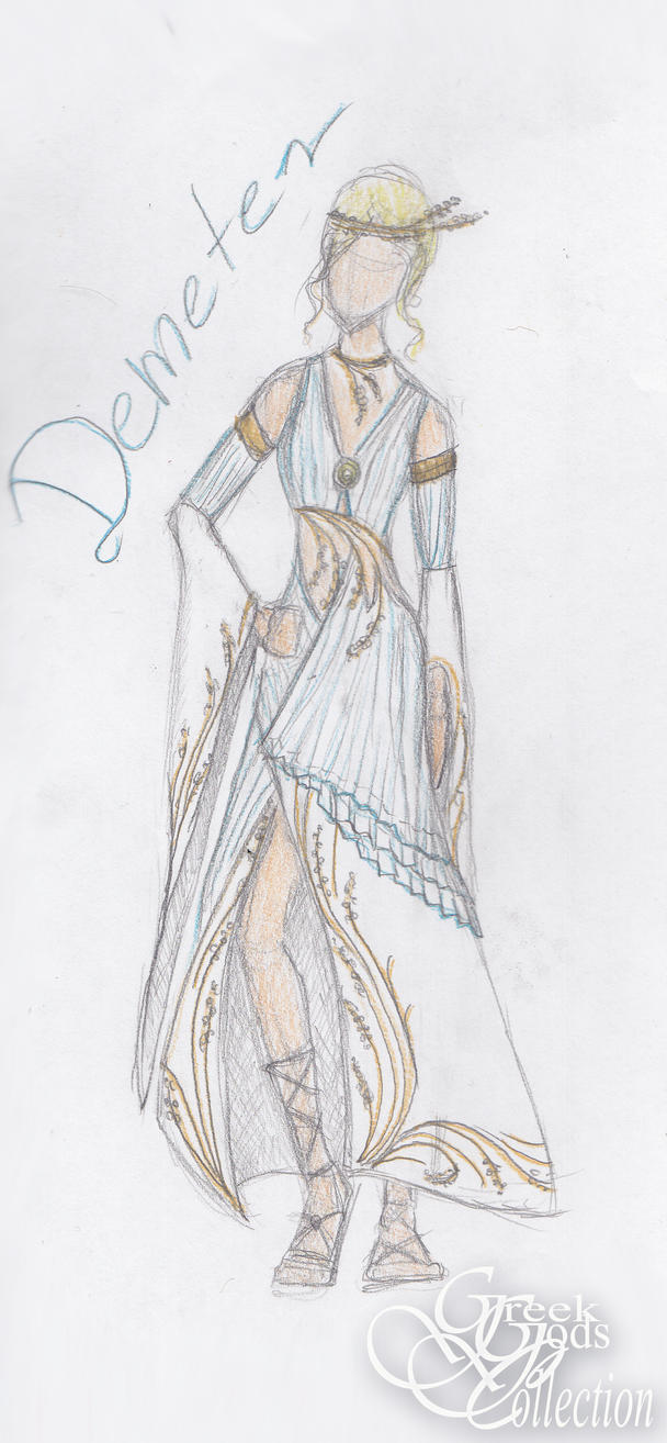 demeter greek goddess drawing - photo #15
