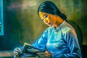 The Student (colour version) by deepgrounduk
