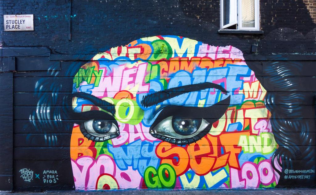 Amy Winehouse, Street Art, London by deepgrounduk